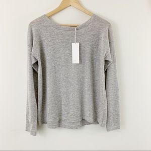 Vince Cashmere Top With Back Elastic Tie